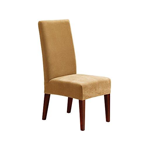 SureFit Stretch Pique - Shorty Dining Room Chair Slipcover - Antique