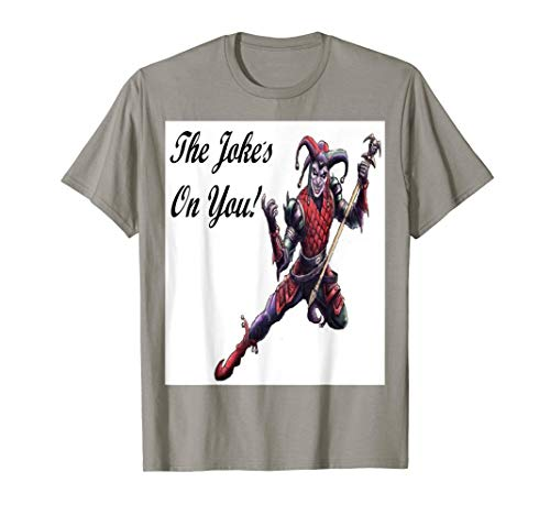 The Joke's On You Evil Jester Spirit and Staff T Shirt -