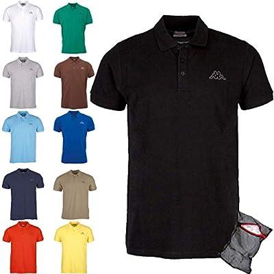 Kappa Poloshirt Ziatec Edition - Golf - Shirt Polohemd - Polo-Shirt + Ziatec Wäschenetz - 1er, 2er, 3er, 4er, 5er o 6er Pack - Tamaño M - 4XL - Poloshirt de deportes,