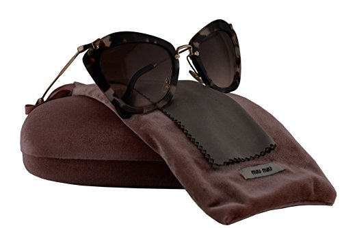 ac54cb36bc28 Miu Miu MU10NS Sunglasses Opal Ivory Havana w Brown Gradient Lens UAO0A6  SMU10N MU 10NS