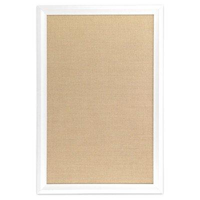 Ubrands White Wood Frame Burlap Bulletin Board - 20'' x 30'' White by U Brands
