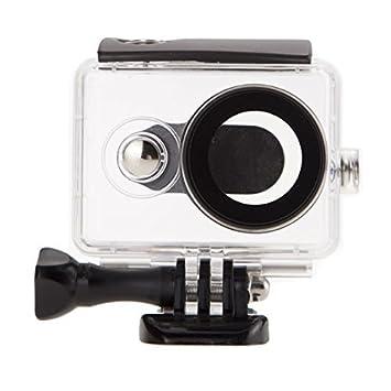 JZK® Soporte profundidad 40m carcasa impermeable con tornillo y adaptador para Xiaomi Yi acción cámara 16MP 4608x3456 1920x1080p cámara 1 Generación, ...