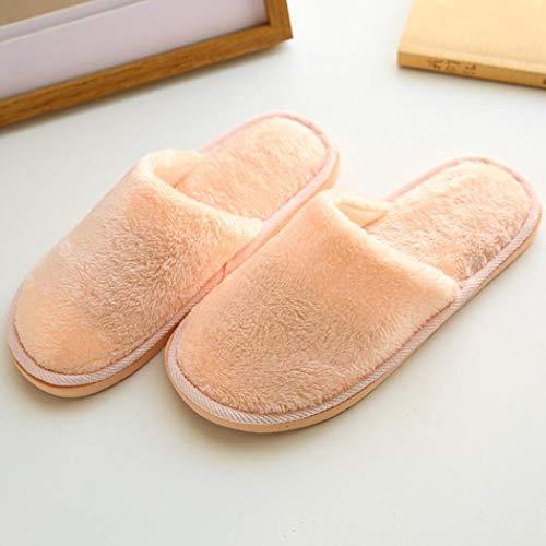Che Unisex Pantofole Coorun Calde Ispira Modello Invernali Comode Solido Albicocca B1wqRw4