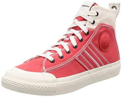 (Diesel Men's S-ASTICO LACE-Sneaker mid, Star White/Poppy red, 8 M US)