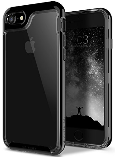 Caseology Skyfall Series iPhone 7 / 8 Cover Case with Clear Slim Protective for Apple iPhone 7 (2016) / iPhone 8 (2017) - Jet Black