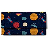 ShopMantra Vector Space Elements Design Canvas Women's Wallet(Multicolour)