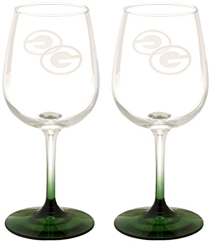 NFL Green Bay Packers Wine Glass, 12-ounce, 2-Pack ()