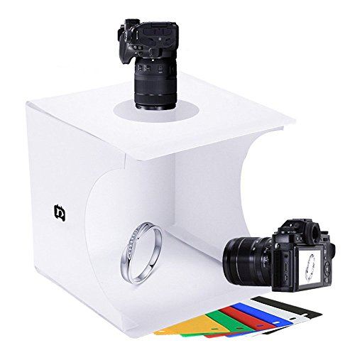 Mini Photo Studio Tent Jewelry Light Box Kit, SENLIXIN Portable Foldable Small Home Photography Studio Light Box Booth Shooting Tent with LED Light Strips - With 6 Color Back (20x20x20cm Photo Studio) by SENLIXIN