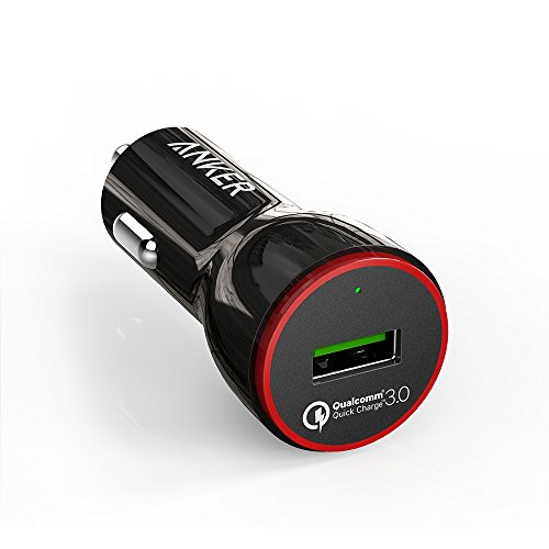 Anker Quick Charge 3.0 24W USB Car Charger, PowerDrive+ 1 for Galaxy S7/S6/Edge/Plus, Note 5/4 and PowerIQ for iPhone X/8/7/6s/Plus, iPad Pro/Air 2/mini, LG, Nexus, HTC and More by Anker (Image #1)