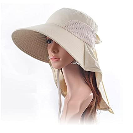 f2322a78bb4 AUCH Adjustable Quick-drying Outdoor UV Spf 50+ Large Brim Visor Boonie