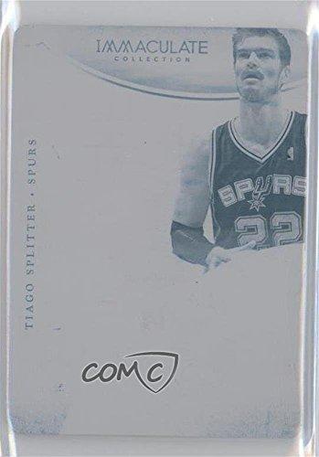 Tiago Splitter #1/1 (Basketball Card) 2013-14 Panini Immaculate Collection - Insignias - 14-15 National Treasures Printing Plate Cyan #100