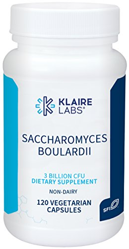 (Klaire Labs Saccharomyces Boulardii - 3 Billion CFU Powerful Shelf-Stable Yeast Probiotic for Kids, Men & Women, Hypoallergenic & Non-Dairy (120 Capsules))
