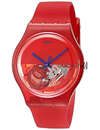 Swatch Unisex SUOR103 Dipred Analog Display Quartz Red Watch