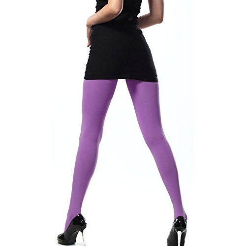 Pantyhose Spandex Opaque (KoolFree Microfiber Stretch Cotton Crotch Opaque Solid Color Pantyhose Tights (Orchid))