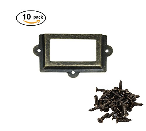 ZXHAO Antique Label Box business card holder Decoration box business Card box 107X61mm 10pcs (Green - 61 Mm