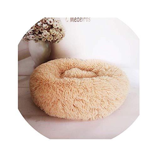 (Deep Sleep Dog House Kennel Round Nest Autumn Winter Cat Mattress for Small Medium Dogs,08,Diameter 50cm)