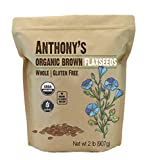 Anthony's Organic Brown Whole Flaxseed, 2lbs, Batch Tested and Gluten Free, Raw, Non GMO, Sproutable, Keto Friendly