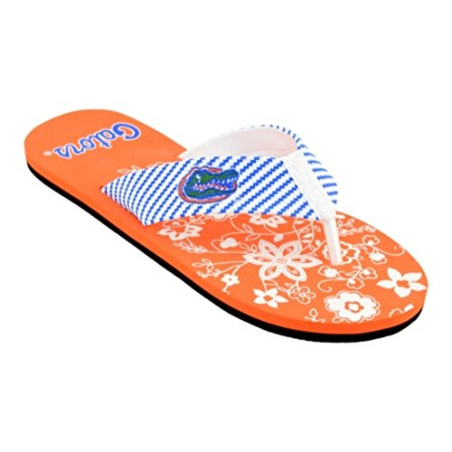 Footnotes Campus Womens Zig Zag Floreale Infradito Florida Gators