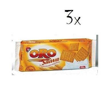 3 x Oro saiwa butterkeks 500 g Italiano pasteles galletas biscuits Cookies: Amazon.es: Alimentación y bebidas