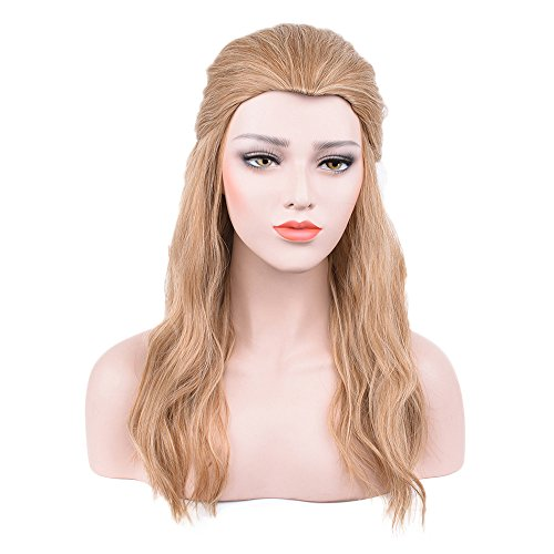 Price comparison product image Netgo Men's Cutome wig Long Curly Blonde Cosplay wig no Bang