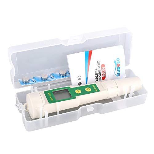 Blanco y Verde nulo Detector de ORP Profesional 169E 1999mV Redox Volt Tester Pen Impermeable Medidor de ORP Medida Herramienta de Prueba de retenci/ón de Datos