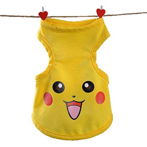 Pikachu Dog Costumes (Alkem Halloween Party Poodle Chihuahua Dog Cat Pikachu Cosplay Costume Outwear(pikachu, medium))