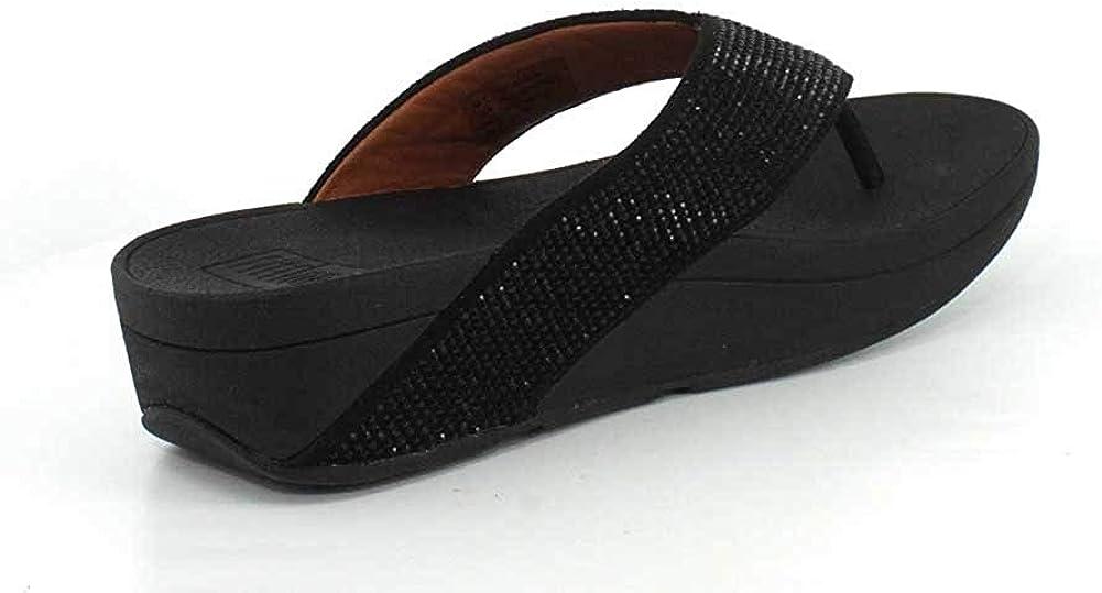FitFlop Damen Sandale Ritzy Toe Post Schwarz