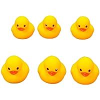 Yellow Duck Bath Toy Bath Duck Squeaky Rubber Duck Baby Shower /6 pes yellow color