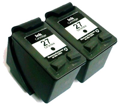 HouseOfToners Remanufactured Ink Cartridge Replacement for HP 27 C8727AN (2 Black, 2-Pack)