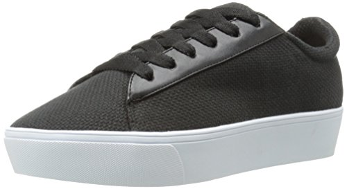 Nine West Womens Hearmeout Läder Mode Sneaker Svart