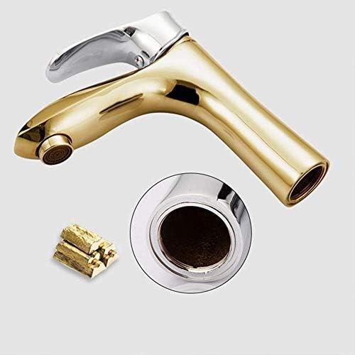 ZY-YY 温水と冷水の蛇口ワイルド洗面銅の蛇口上部と下部流域浴室の洗面台の蛇口楽しさ