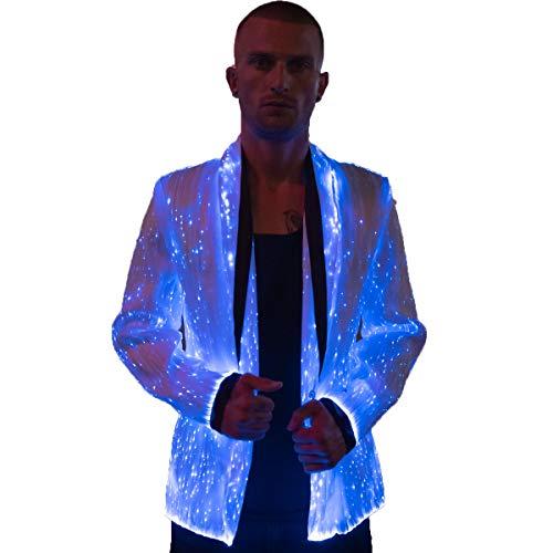 [해외]남자 파티 LED 재킷 VIP 불타는 남자 의류에 대 한 라이트 업 재킷 / Light Up Jacket for Men Party LED Blazer VIP Burning Man Clothing