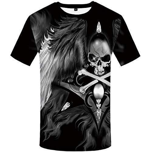 (KYKU Skull T Shirts for Men Anime Shirt S 2XL 3D T-Shirt Funny Mens Clothing Top (Large))