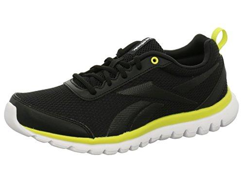 Reebok Ar0862 - Zapatillas de running de Material Sintético para niña Black/Hero Yellow/White