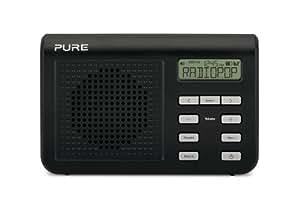 Pure VL-61803 One Mi Serie II - Radio de bolsillo (DAB/DAB+/FM, 1 W, RMS, 16 emisoras), color negro