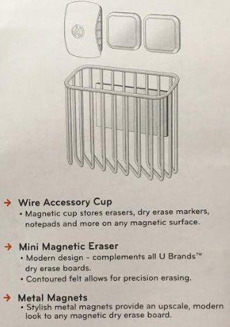 U Brands ACCESSORY KIT, Magnetic Storage Value Pack - Gold