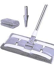 iFAN Length Adjustable Flat Floor Mop (2Pads+1Scrubber) Purple/White