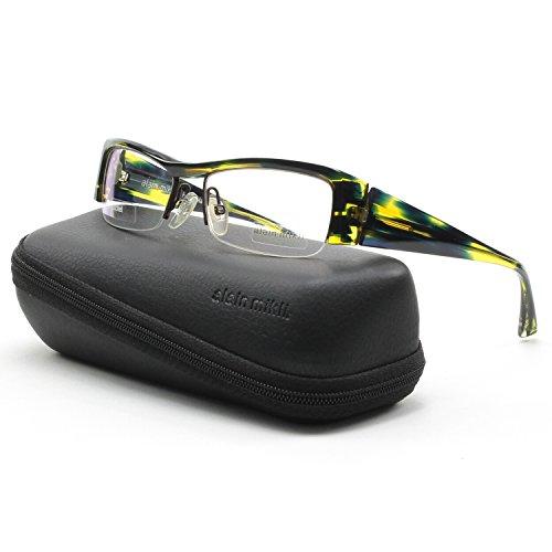 Alain Mikli Eyeglasses AL0795 0018 Translucent Blue Green Yellow Frame 51 mm