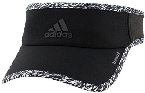 adidas Women's Standard Superlite Visor, Black/White/Dye Pixel, One Size -