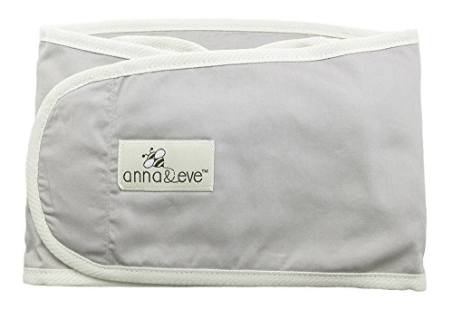 Anna & Eve Swaddle Strap Arms Only Baby Swaddle, Grey, Large (Strap Leg Blanket)