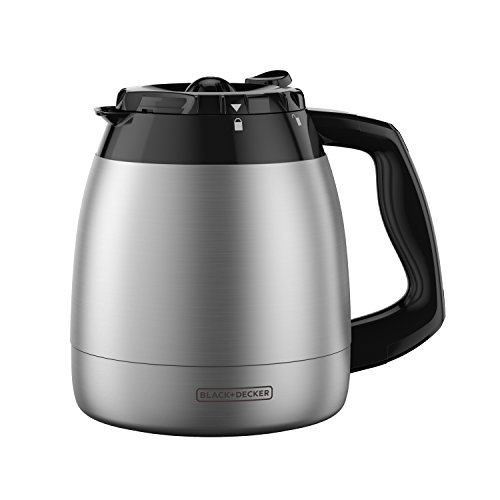 BLACK+DECKER 12-Cup Replacement Thermal Carafe with Duralife Construction, Stainless Steel, TC1200B (Coffee Maker Thermal Pot)