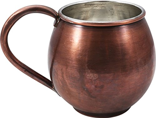 Oz Tin One 20 - Handcraftideas Moscow Mule Antique Copper Barrel Mug Cup- 100% HandCrafted - Hand Made Hand Painted Pure Solid Copper Heavy Mug - 20fl. Oz. (600ml)-(CM-118)