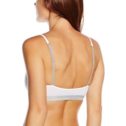 Calvin Klein Underwear Bralette, Corsé para Mujer Bianco (WHITE 100)