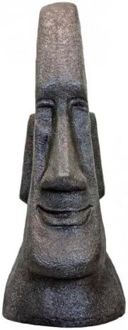 Fachhandel-Plus Moais Escultura de Cabeza, Escultura de jardín en Granito Look, Escultura, Estatua 76 cm: Amazon.es: Jardín