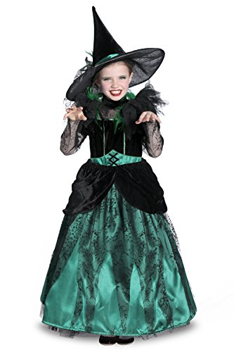 Princess Paradise The Wizard of Oz Wicked Witch of the West Pocket Princess Costume, Green/Black, Medium - Elphaba Costume For Kids