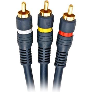 Steren Genuine 25 de piel de serpiente 3 AV Cable