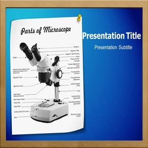 Amazon Com Parts Of Microscope Powerpoint Template