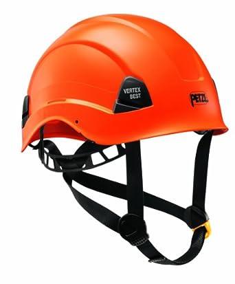 Petzl A10BOA VERTEX: Casco más cómodo para trabajo en altura y rescate, color naranja