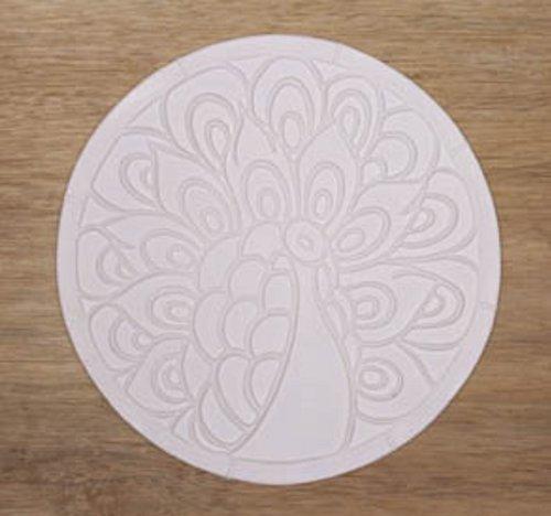 11 Inch Diameter Peacock Texture Tile Mold for Glass Slumping