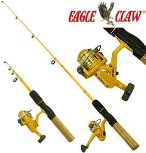 """Eagle Claw Fishing Telescopic 5/'6/"""" Pack-It Spinning Rod--Travel//Camp//Backpacking"""